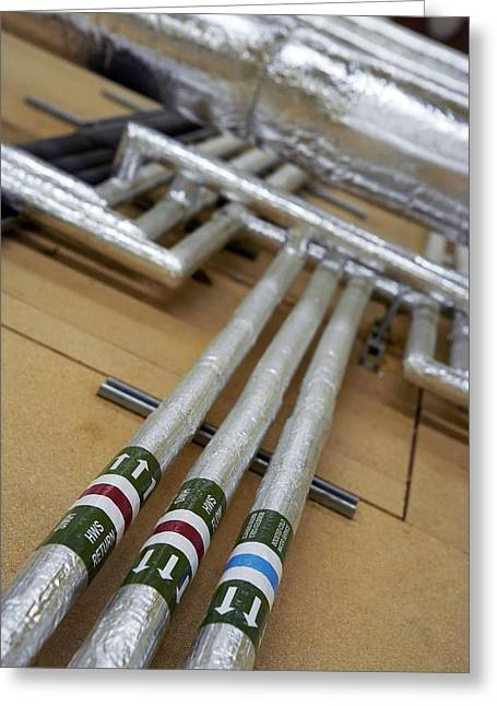 Heating Up Greeting Cards - Insulated Water Pipes Greeting Card by Mark Sykes