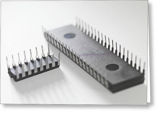 Computer Part Greeting Cards - Integrated Circuits Greeting Card by Tek Image