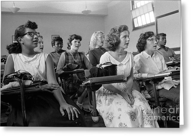 Desegregation Greeting Cards - Integrated Classroom, 1957 Greeting Card by Granger