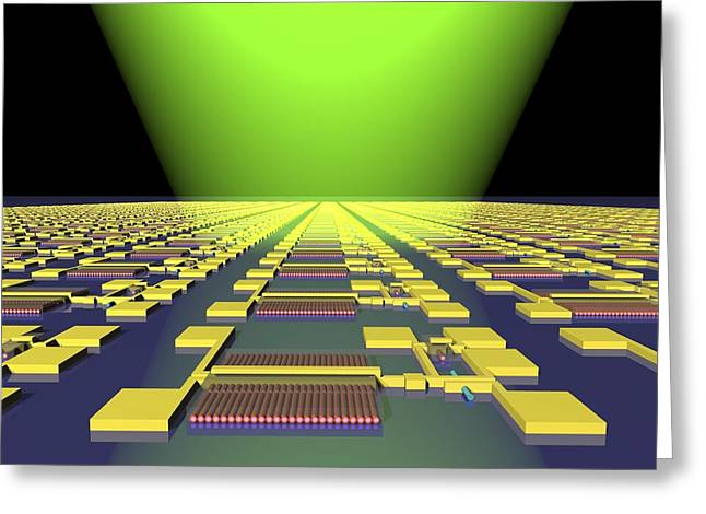 Integrated Nanowire Circuit, Artwork Greeting Card by Lawrence Berkeley National Laboratory