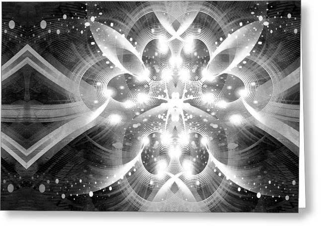 Intelligent Design BW 1 Greeting Card by Angelina Vick