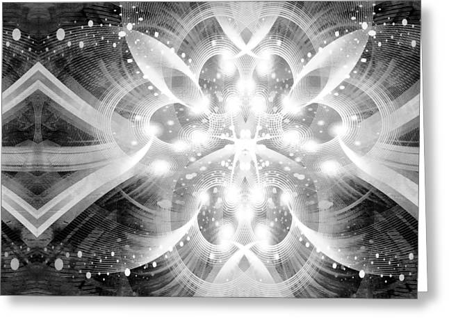 Intelligent Design BW 2 Greeting Card by Angelina Vick