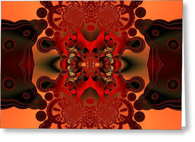 Generative Abstract Greeting Cards - Intense confrontation Greeting Card by Claude McCoy