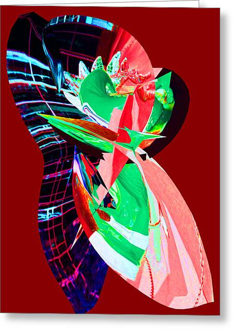 Abstract Digital Greeting Cards - Intensity Greeting Card by Douglas G Gordon