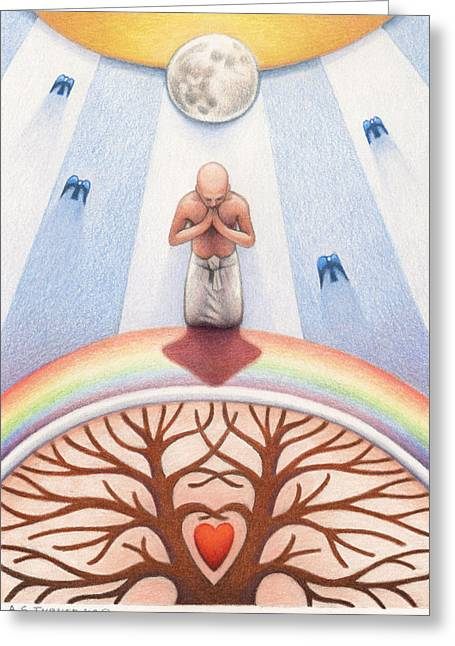 Interconnected Greeting Cards - Intercessory Circle Greeting Card by Amy S Turner