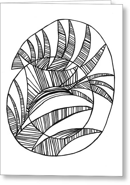 Thin Drawings Greeting Cards - Interfered Spiral Greeting Card by John Ricker