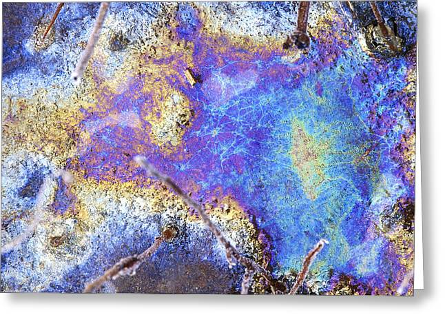 Decomposition Greeting Cards - Interference Patterns In A Frozen Pond Greeting Card by Dr Keith Wheeler