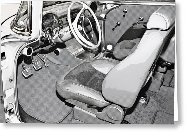 Susan Leggett Digital Greeting Cards - Interior of Classic Car Greeting Card by Susan Leggett