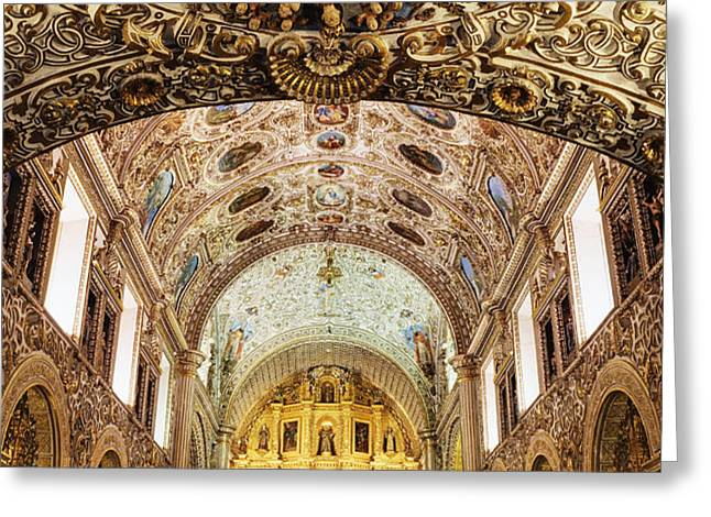 Interior of the Church of Santo Domingo Greeting Card by Jeremy Woodhouse