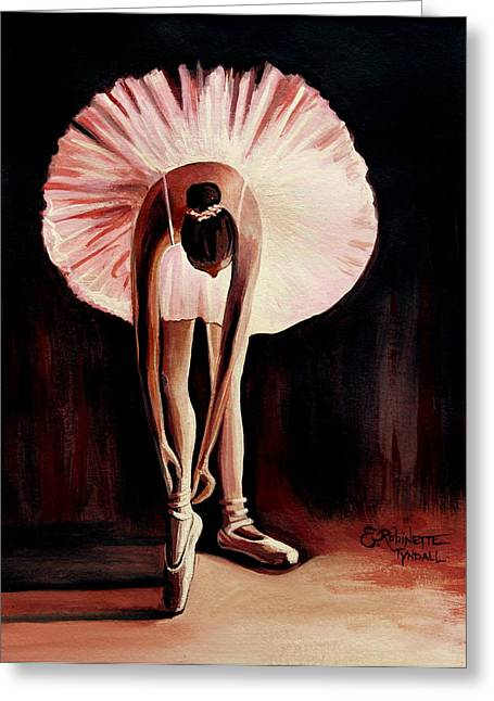 Ballet Dancers Greeting Cards - Interlude Greeting Card by Elizabeth Robinette Tyndall