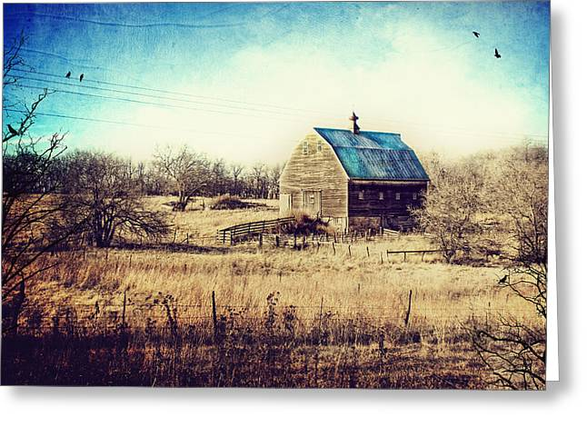 Country And Western Greeting Cards - Interlude in Blue Greeting Card by Laura George