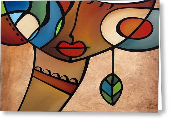 Wine Deco Art Mixed Media Greeting Cards - Interlude Greeting Card by Tom Fedro - Fidostudio
