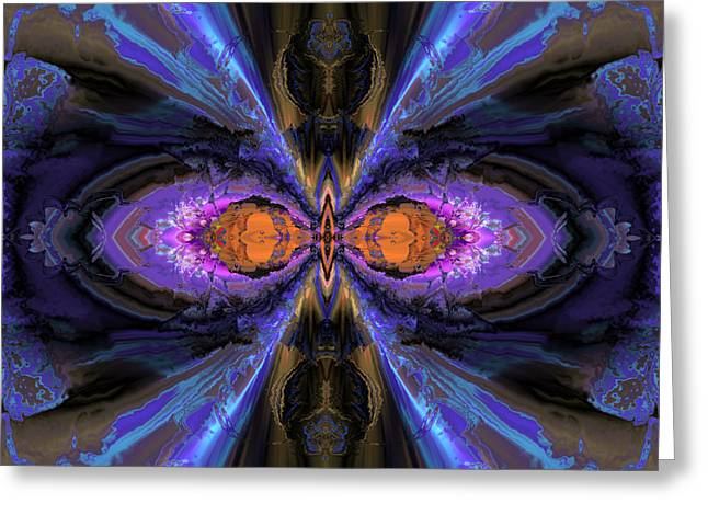 Algorithmic Abstract Greeting Cards - Interlude with purple and blue Greeting Card by Claude McCoy