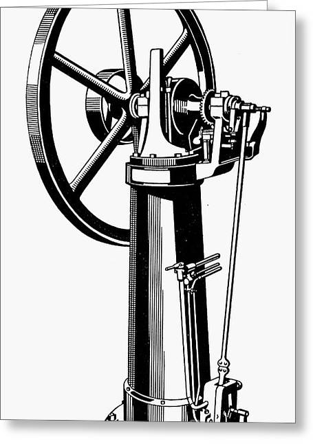 Internal Combustion Engine Greeting Card by Granger