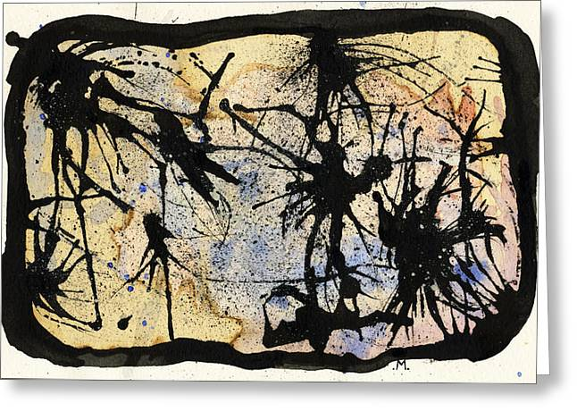 Pen And Ink Greeting Cards - Internal landscape four Greeting Card by Mark M  Mellon