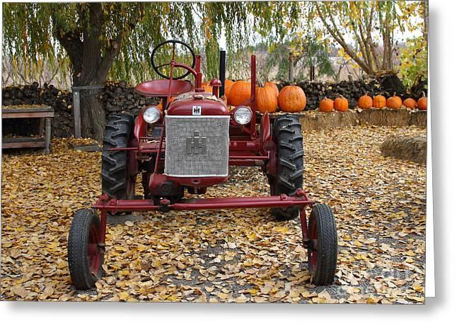 Mccormick Farmall Greeting Cards - International Harvester McCormick Farmall Cub Farm Tractor . 7D10305-2 Greeting Card by Wingsdomain Art and Photography