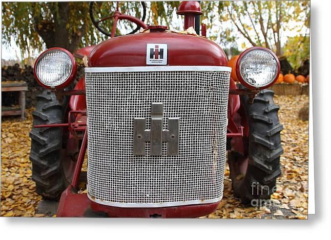 Mccormick Farmall Greeting Cards - International Harvester McCormick Farmall Cub Farm Tractor . 7D10307 Greeting Card by Wingsdomain Art and Photography