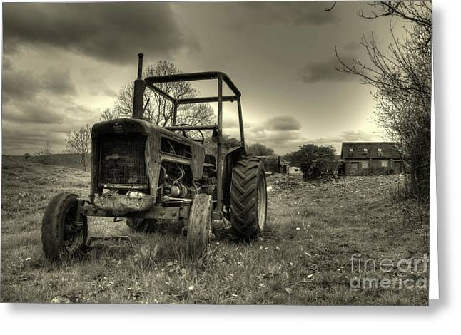 International Tractor Greeting Cards - International in the field Greeting Card by Rob Hawkins