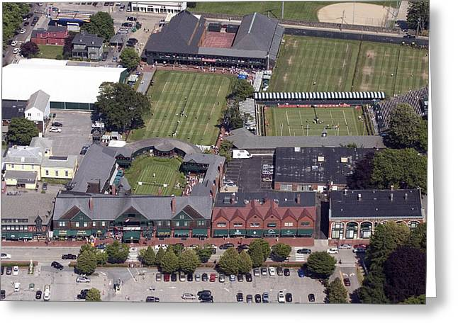 Bellevue Greeting Cards - International Tennis Hall of Fame 194 Bellevue Ave Newport RI 02840 3586 Greeting Card by Duncan Pearson