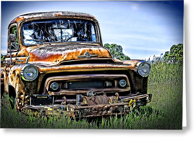 International Truck Alone And Rusting Greeting Card by William Havle