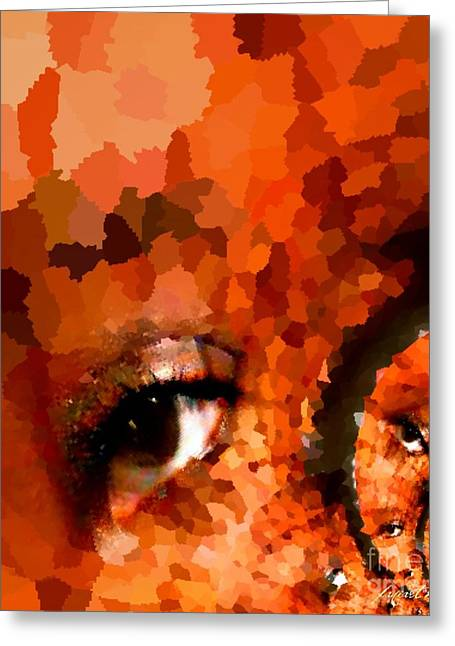 Title : Liberty Greeting Cards - Internet Eyes - What Happens When You Keep Your Eyes Off God Greeting Card by Fania Simon