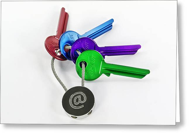 Keychain Greeting Cards - Internet Security Greeting Card by Friedrich Saurer