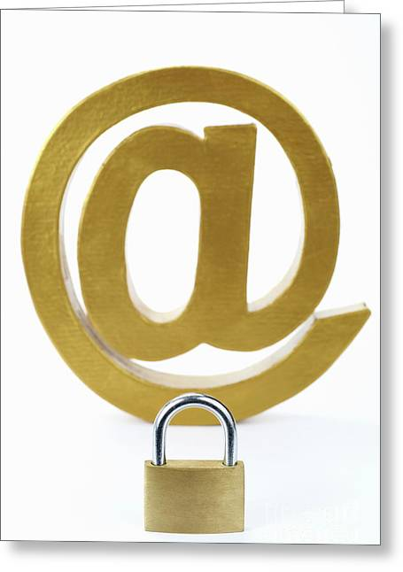 Internet Security Greeting Card by Sami Sarkis