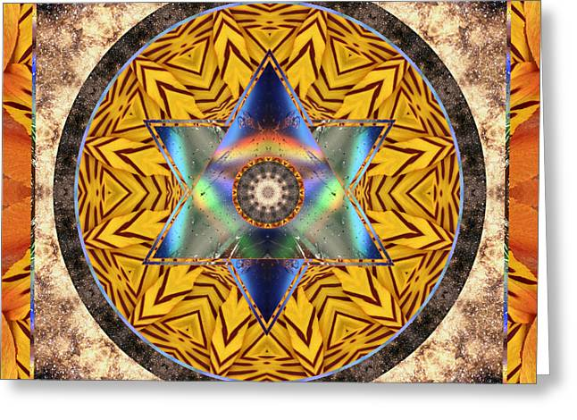 Red Chakra Greeting Cards - Interspectra Greeting Card by Bell And Todd