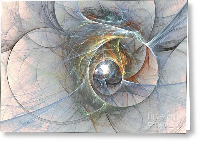 Interior Still Life Mixed Media Greeting Cards - Interwoven - abstract art Greeting Card by Abstract art prints by Sipo