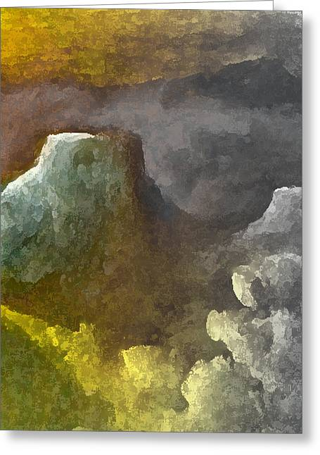 Visionary Artist Digital Art Greeting Cards - Intimacy Landscape Greeting Card by George  Page
