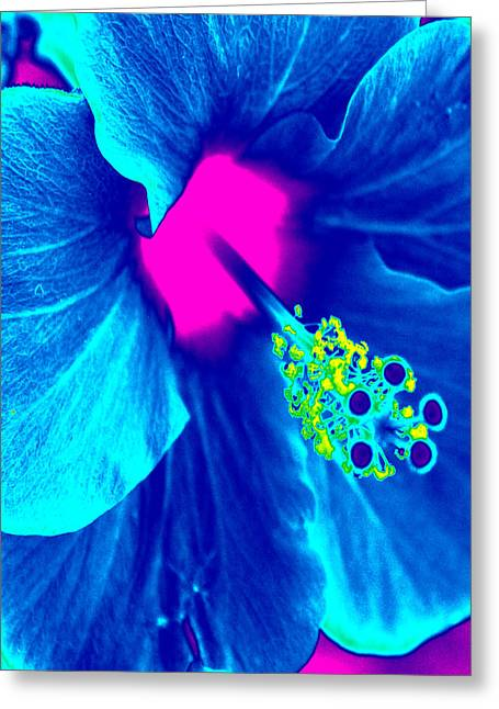 Intimate Blue Greeting Card by Keren Shiker