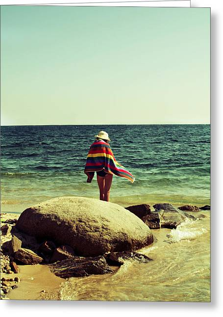 Beach Towel Greeting Cards - Intimate moments Greeting Card by Ivan Vukelic