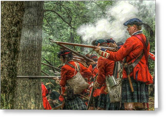 Seven Years War Greeting Cards - Into the Breech Greeting Card by Randy Steele