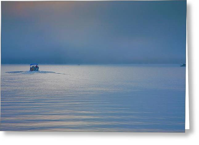 Keuka Lake Greeting Cards - Into The Mist Greeting Card by Steven Ainsworth