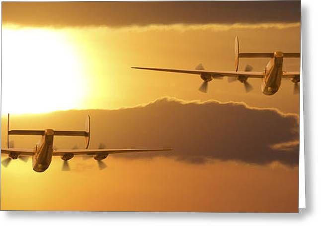 Warbird Art Greeting Cards - Into the Sun 2 Greeting Card by Mike McGlothlen