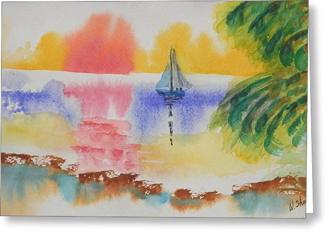 Recently Sold -  - Sailboat Art Greeting Cards - Into the Sunset Greeting Card by Warren Thompson