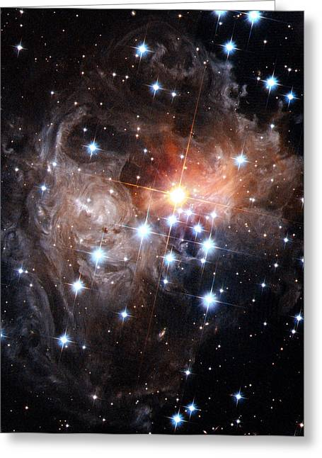 Hubble Space Telescope Views Greeting Cards - Intricate Structures In Interstellar Greeting Card by ESA and nASA