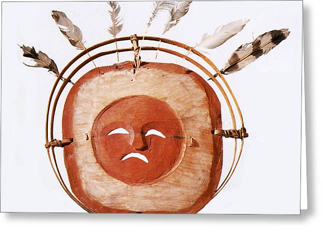 Shamanism Greeting Cards - Inuit Moon Mask Greeting Card by Photo Researchers