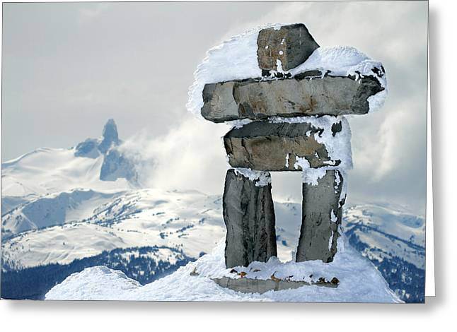 Inukchuk Whistler Greeting Card by Pierre Leclerc Photography