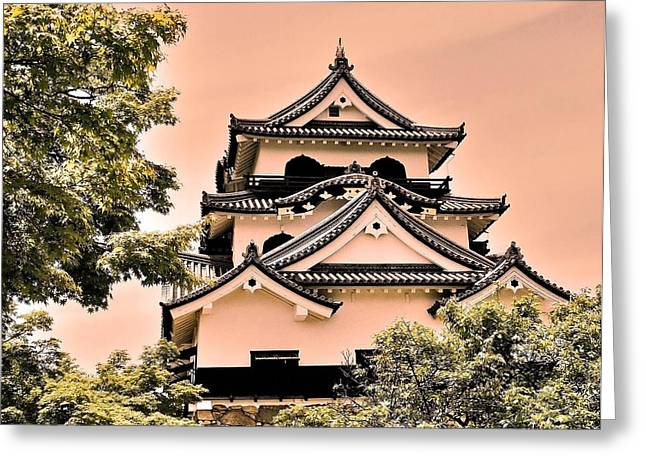 Oda Greeting Cards - Inuyama Castle Greeting Card by Juergen Weiss