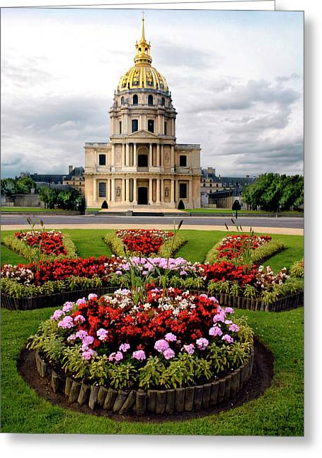 Invalides Paris France Greeting Card by Dave Mills