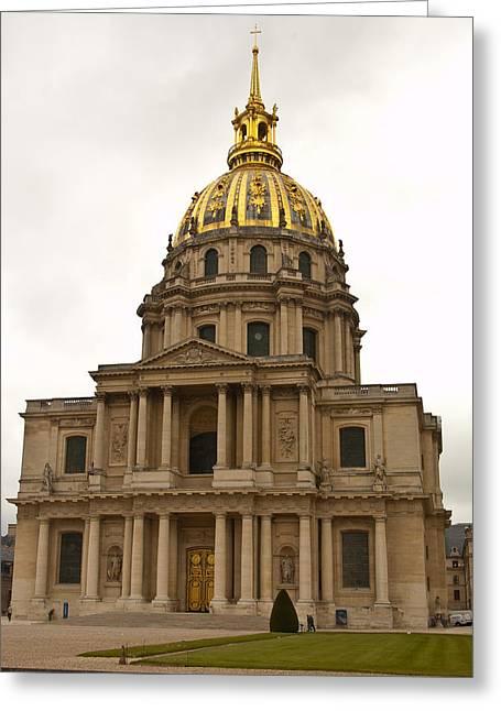 Invalides Paris France Greeting Card by Jon Berghoff