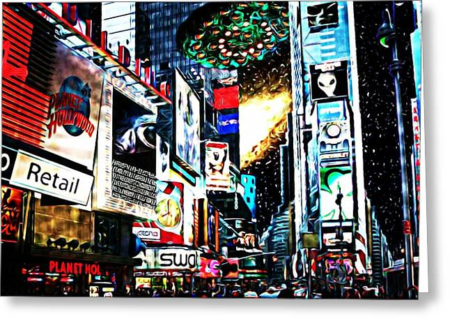 Take Over Greeting Cards - Invasion Greeting Card by Lauranns Etab