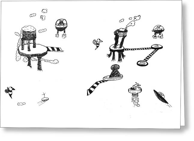 Best Sellers -  - Sketchbook Greeting Cards - Invasion Mini-series 5-6 Greeting Card by Michael Mooney
