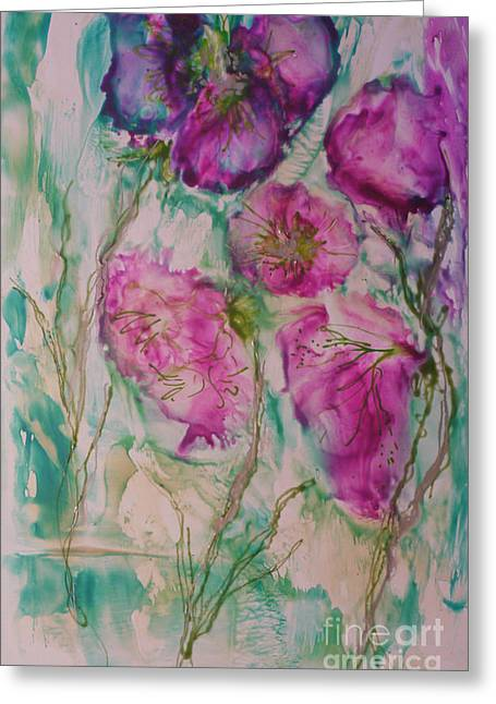 Flower Express Greeting Cards - Invitation to Spring  Greeting Card by Heather Hennick