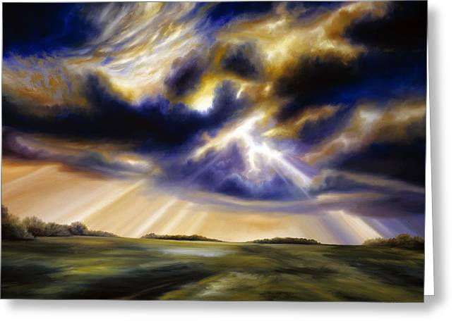 James Christopher Hill Greeting Cards - Iowa Storms Greeting Card by James Christopher Hill
