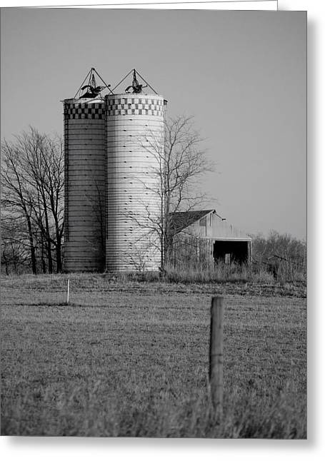 Tin Roof Greeting Cards - Iowa Towers 1 Greeting Card by Jame Hayes