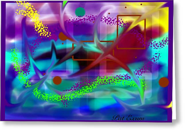 Artistic Creation Greeting Cards - Ipademonium Greeting Card by Pat Exum