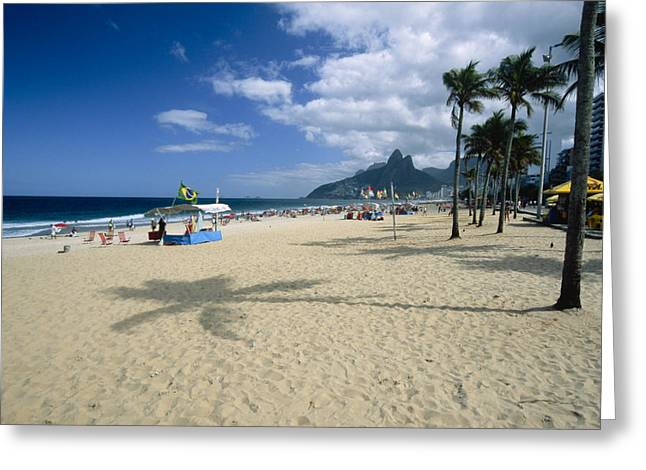 Ipanema Beach Greeting Cards - Ipanema Beach View Greeting Card by George Oze