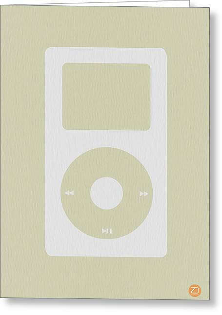 Dwell Digital Art Greeting Cards - iPod Greeting Card by Naxart Studio